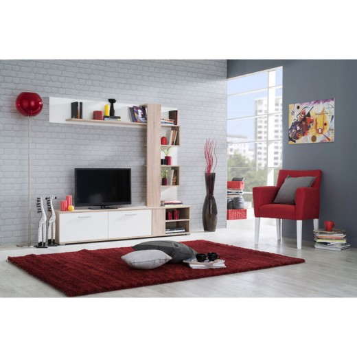 ΣΥΝΘΕΣΗ TV APUS (SONOMA/ WHITE)